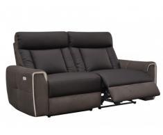 Relaxsofa 3-Sitzer elektrisch Romeo II - Braun