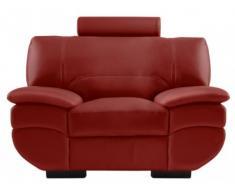 Ledersessel California II - Rot