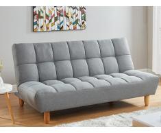 3-Sitzer Klappsofa Stoff ESTEBAN - Grau