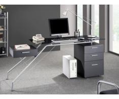 SALE - Computertisch Schreibtisch Glas Slider