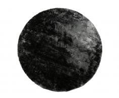 Hochflorteppich rund glänzend TAIKO - D. 200 cm - Anthrazit