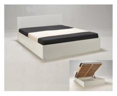 Bett mit Lattenrost & Stauraum Elphege - Weiß - 160x200cm