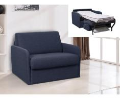 Schlafsessel mit Matratze NADOA - Breite 70cm - Blau
