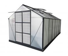 Garten Gewächshaus Aluminium Kalida - 13 m² - Anthrazit