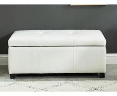Sitzbank Sitztruhe FILIPPO - Weiß
