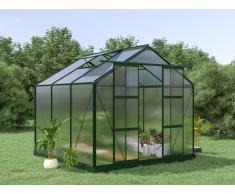 Garten Gewächshaus Aluminium Anissa - 5,9 m² - Grün