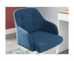 Bürostuhl MISSOURI - Höhenverstellbar - Stoff - Blau