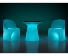 LED Gartenmöbel Essgruppe KIRUNA - 3-tlg.