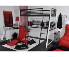Hochbett mit Schreibtisch Malicio - 90x190cm