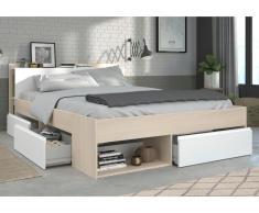PARISOT Bett mit Stauraum Most - Verstellbar 160x200cm - Holzfarben