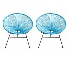 Gartensessel Loungesessel 2er-Set Alios - Blau