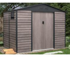 Gartenhaus Gerätehaus ADELMO - Stahl - Holz-Optik - 5,40 m²