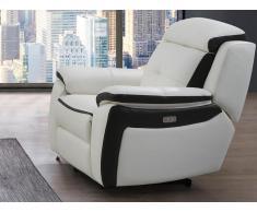 Relaxsessel Fernsehsessel elektrisch ANGELIQUE - Leder - Weiß