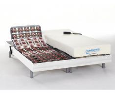 Matratzen elektrischer Lattenrost 2er-Set mit Okin-Motor Hesiode III - Weiß - 2x80x200
