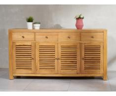 Sideboard Holz SUMBA - 4 Türen & 4 Schubladen
