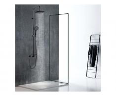 Duschsäule mattschwarzer Edelstahl AITA - 127 cm