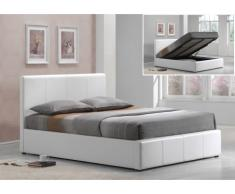 Polsterbett mit Bettkasten Tremplin - 160x200cm - Weiß