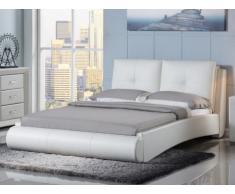 SALE - Sparset Bett BERTIN + Lattenrost - 160x200 cm - Weiß