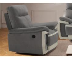 Relaxsessel Fernsehsessel elektrisch METTI - Samt - Grau