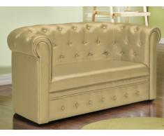 Chesterfield Kindersofa Tiana - Gold