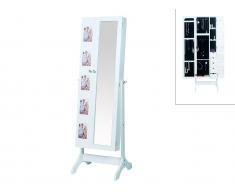Schmuckspiegel Spiegelschrank mit Bilderrahmen Polina - Höhe: 142cm