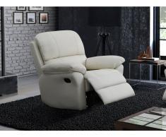 Relaxsessel Fernsehsessel Leder Milagro - Elfenbein