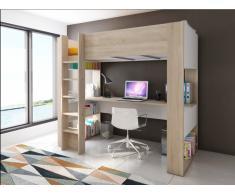 Hochbett mit Schreibtisch NOAH - 90x200cm