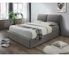 Polsterbett mit Bettkasten ALCEO - 180x200cm - Grau