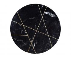 Couchtisch Marmor & Metall ORNEA - Schwarz