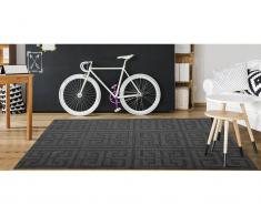 Teppich Jacquard gewebt IYAD - 160 x 230 cm - Anthrazit
