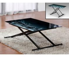 Tisch Glas Midnight - Höhenverstellbar