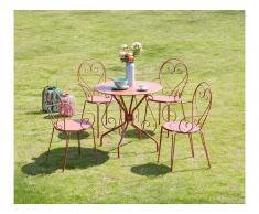 Garten Essgruppe GUERMANTES - Tisch & 4 Sessel - Terracotta