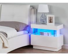 Nachttisch Hochglanz LED FABIO