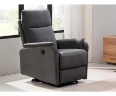 Relaxsessel Fernsehsessel elektrisch ONESTI - Stoff - Grau