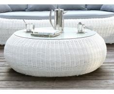 Gartentisch Polyrattan Whiteheaven - Weiß