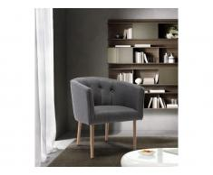 Lounge-Sessel GRAPE - Stoff - Anthrazit