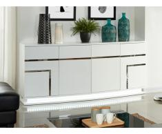 Sideboard Hochglanz LED Luminescence IV - Weiß