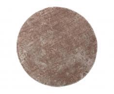 Hochflorteppich rund glänzend TAIKO - D. 200 cm - Taupe