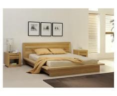 Sparset SYMPHONIE: Bett Holz SYMPHONIE - 160x200 + 2 Nachttische