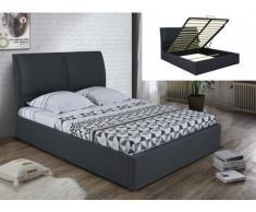 Polsterbett mit Bettkasten ALCEO - 160x200cm - Anthrazit