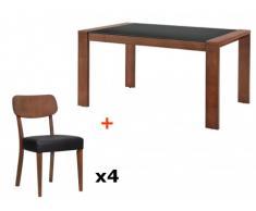 Essgruppe RUBBEN: Esstisch + 4 Stühle