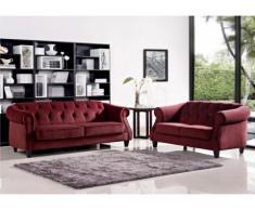 Couchgarnitur Barock Vogue 3+2 - Rot