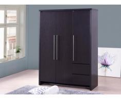 Kleiderschrank ISIS - 3 Türen & 2 Schubladen - Wenge