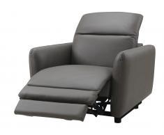 Relaxsessel Fernsehsessel elektrisch CLEOPHEE - Leder - Taupe