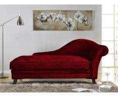 Recamiere Barock Boudoir - Armlehne Links - Rot