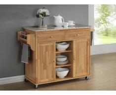 Küchenwagen Servierwagen Holz Delcia