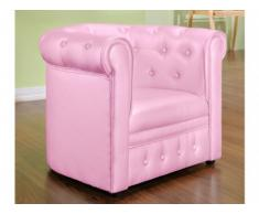 Chesterfield Kindersessel Tiana - Rosa