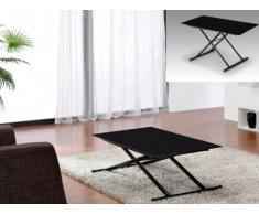 SALE - Tisch Glas Stahl Crescendo - Höhenverstellbar - Schwarz