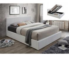 Polsterbett mit Bettkasten TREMPLIN II - 140x190cm - Weiß