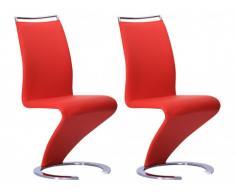 Stuhl Freischwinger 2er-Set Twizy - Rot